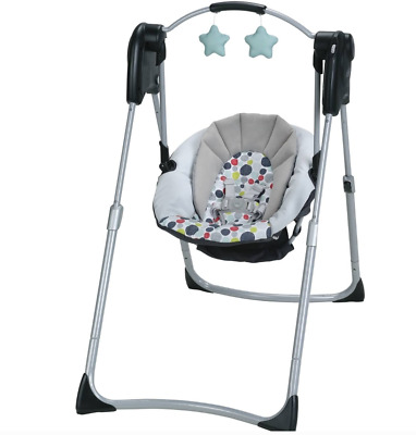 Best Graco Slim Spaces Compact Baby Swing Mobile Unisex Infant Toddler Folding