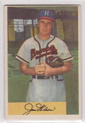 Rm 1954 Bowman Baseball Card 16 Jim Wilson Milwaukee Braves Ex