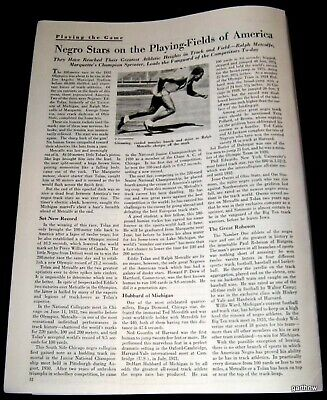 Ralph Metcalfe 1935 Rise Of Black Athletes In America Feature Marquette Track
