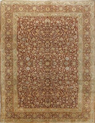Breathtaking Copper Rust All-Over Floral Kashaan Persian Oriental Area Rug 10x13