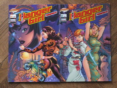 Danger Girl Kamikaze French Variant J.scott Campbell 2 Covers Set Oop 2002