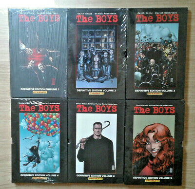 The Boys Definitive Edition 1 2 3 4 5 6 Hardcover Hc Slipcases Ennis Robertson