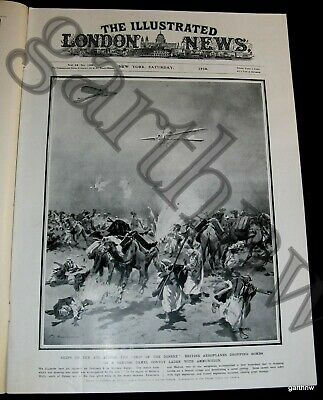 Senussi Attack Art 1916 + World War I Battlefield Commander Art & Verdun Joffre