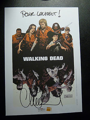 The Walking Dead Limited Signed French Print Rare Adlard Amc Zombies