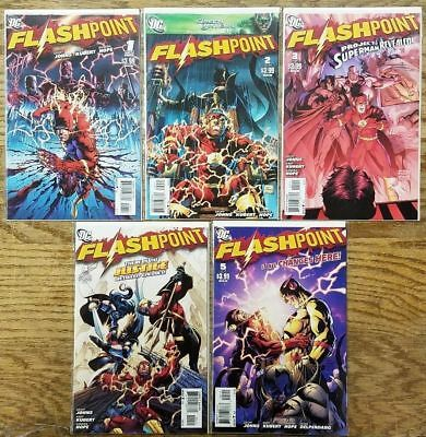 Flashpoint 1 2 3 4 5 1St Prints Htf Complete Series Geoff Johns Andy Kubert