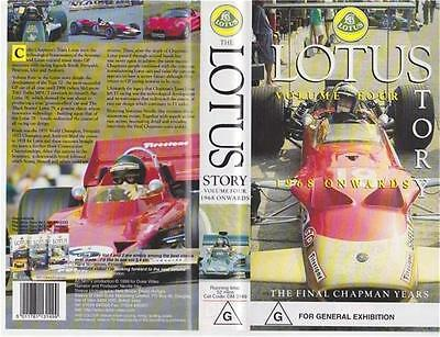 Motor Racing Lotus Story 1968 Onwards   Vhs Video Pal  A Rare Find