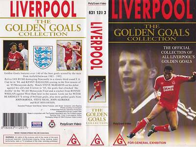 Liverpool The Golden Goals Collection  Vhs Video Pal~A Rare Find