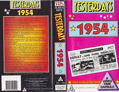 Yesterdays  1954 Vhs Video Pal~ Very  Rare Find~