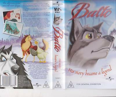 Balto His Story Became A Legend   Video Vhs Pal~ A Rare Find