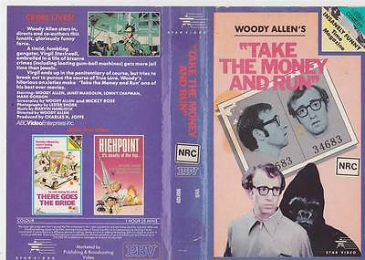 Woody Allen Take The Money And Run  Vhs Pal Video  ~ A Rare Find