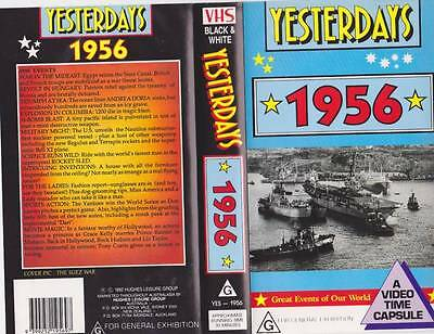Yesterdays  1956 Vhs Video Pal~ Very  Rare Find~