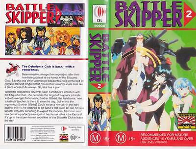Battle Skipper Volume 2  Vhs Video Pal~ A Rare Find