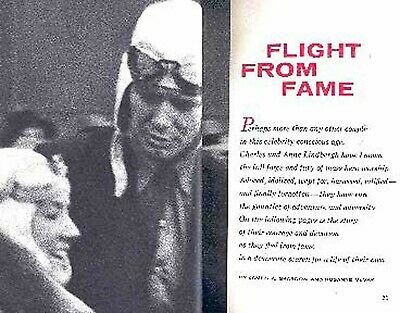 Charles Lindbergh & Wife Anne 1957 Pictorial Aviation Career & Flight From Fame