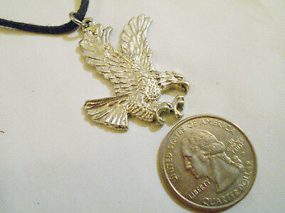 bling silver plate military eagle fashion pendant charm hip hop necklace jewelry