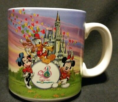 Walt Disney World 20th Anniversary Coffee Cup Mug Castle Mickey Mouse