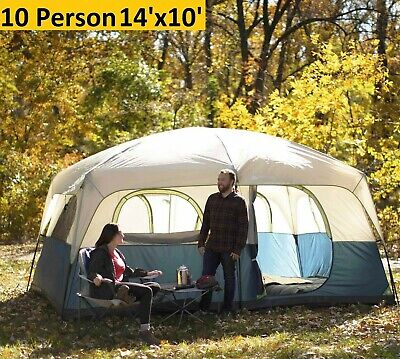 OZARK TRAIL 14' x 10' Family Cabin Tent 10 Person Outdoor Camping Instant  New