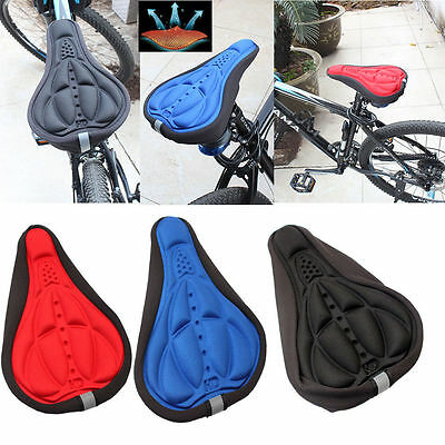 Cycling Bicycle Bike Seat Cover Cushion Seat Saddle Soft 3D Soft Padded Outdoor