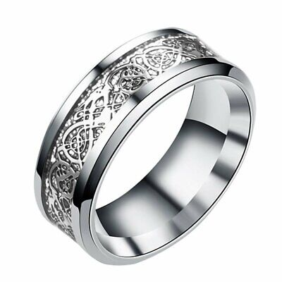 New Fashion 2019 - Romantic Rings, Stainless Steel for Couple Ring Full Size