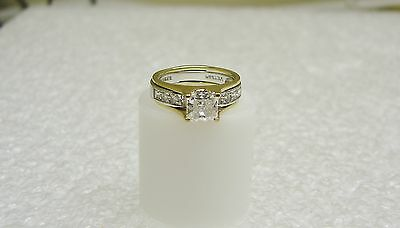 14K Yellow And White Gold Double Band Cubic Zirconia Ring Size 5 3/4 (G11-R)