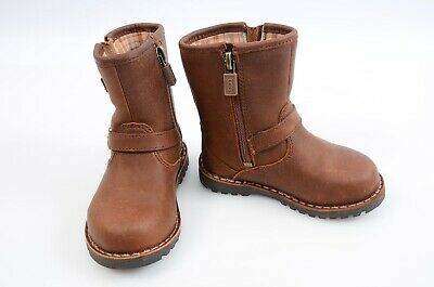 a89b6e086b0 UGG HARWELL BROWN toddler 6 leather buckle strap riding biker boot shoe $90