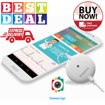 Mini Portable Wearable ECG Holter Monitor Real Time Heart Support Electrode NEW