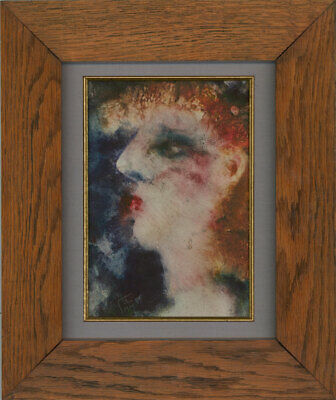 Inge Clayton FRSA (1942-2010) - Framed Contemporary Aquatint, Lady with Red Lips