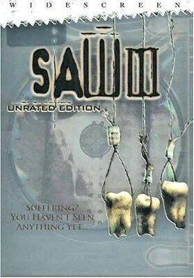 Saw III (DVD, 2007, Unrated Widescreen) WORLDWIDE SHIP AVAIL!