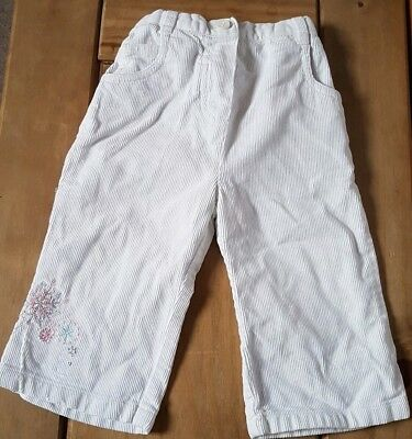 Mothercare White Snowflake Cord Trousers 6/9 Months combine post build a bundle