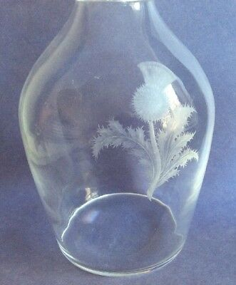 Steuben Glass Etched Thistle Decanter And Stopper Signed Crystal