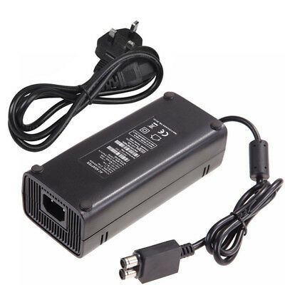 135W 12V AC Brick Adapter Power Supply for Xbox 360 Slim UK Mains Charger Cable