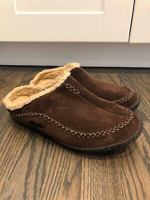 90f62d9bb2a Sorel Mens Size 11 EU 44 Falcon Ridge Brown Suede Lined Scuffs Slippers