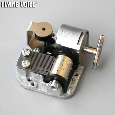 18 Note Alloy Wind Up Music Box Movement Mechanism Repair Parts Fitting DIY Gift