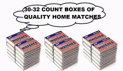 Quality Home Wooden Kitchen Matches 30 Boxes 32 Count Per Box (960 Pieces)