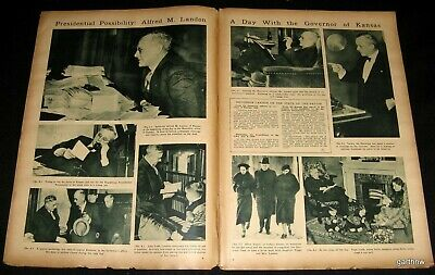 Alf Landon 1936 Potential Presidential Candidate Kansas Governor Pictorial
