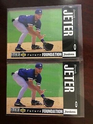 Lot of 2 1994 Upper Deck Collector's Choice Future Foundation Derek Jeter RC 644