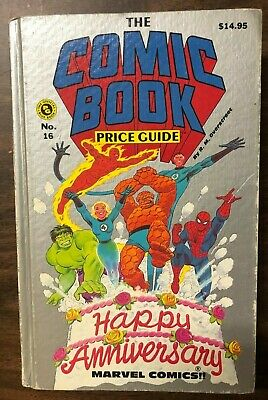 1986 OVERSTREET COMIC BOOK PRICE GUIDE #16 hardcover Marvel Anniversary cover