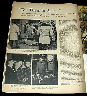 Algeria 1960 Pictorial Pro-French Nationalists & Rebels In Bab-El-Oued Algiers