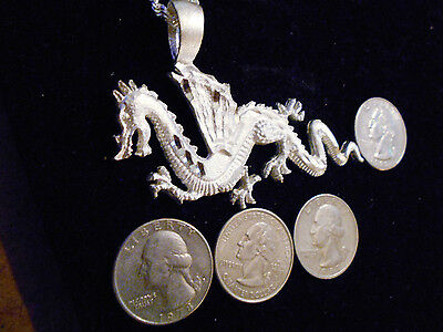 bling silver plated chinese dragon fashion pendant charm chain necklace jewelry