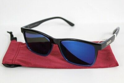 c9c8f764f0 New SunCloud Dexter Sunglasses Black Blue Frame Polarized Blue Mirror Lens