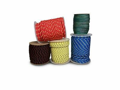 Strong Braided Polypropylene Plaited Poly Rope Cord Sailing Camping Yacht Boat