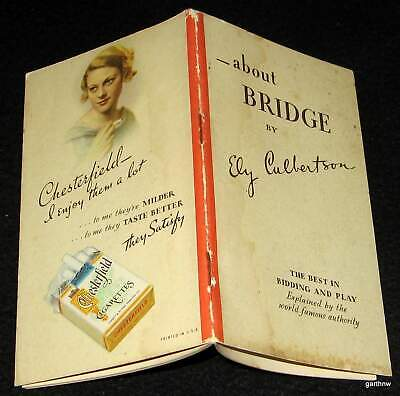 Bridge 1934 Chesterfield Promo Booklet Ely Culbertson Bidding & Play