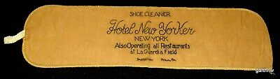 HOTEL NEW YORKER 1950s SHOE SHINE CLEANER UNUSED CLOTH * LAGUARDIA AIRPORT