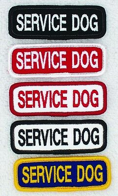 Service Dog Patch 1x3 Assistance Medical Disabled Danny & LuAnns Embroidery