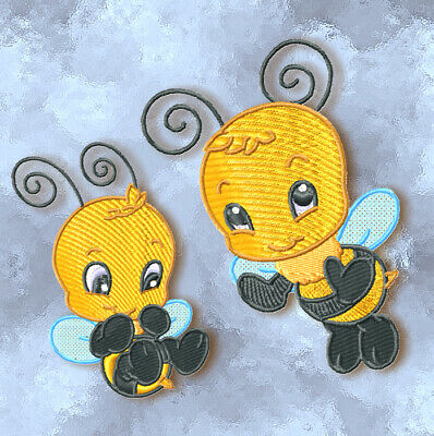 CUTE BABY BEE 10 MACHINE EMBROIDERY DESIGNS CD or USB