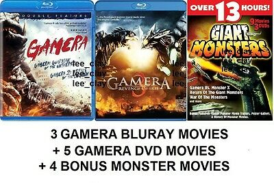 Gamera Trilogy Guardian of the Universe Iris Legion BLURAY + 9 MORE MOVIES! GAOS
