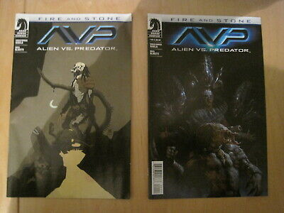 AVP, ALIENS VS PREDATOR : FIRE & STONE issue 1 x both covers by E M GIST.DH,2014