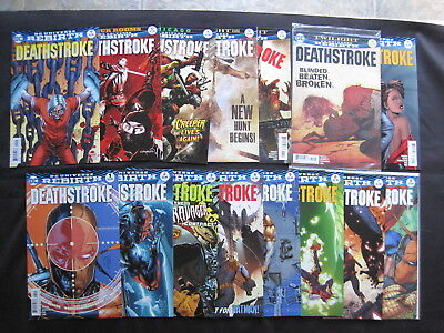 DEATHSTROKE : issues 1 - 28 + Annual 1 . DC UNIVERSE REBIRTH, 2016 SERIES