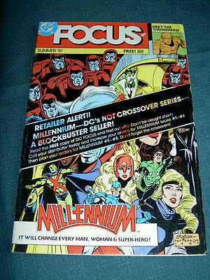FOCUS No 1 - RARE FREE DC PREVIEW COMIC featuring MILLENNIUM & PEREZ. DC 1987