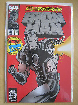 IRON MAN 288. 48 page ANNIVERSARY SPECIAL with FOIL ENHANCED COVER. 1993, MARVEL