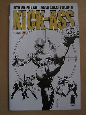 KICK - ASS  issue  7 , BLACK & WHITE CVR VARIANT by NILES & FRUSIN.  IMAGE, 2018